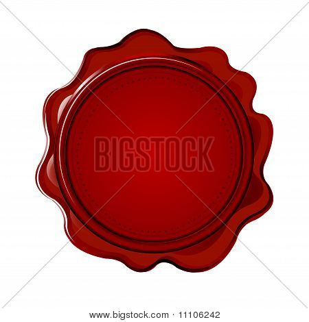 Wax Seal With Blank Field