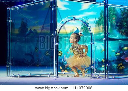 Minsk, Belarus December 05: Matviishina Alisa From ' Brest' Participate With 'gold Fish&