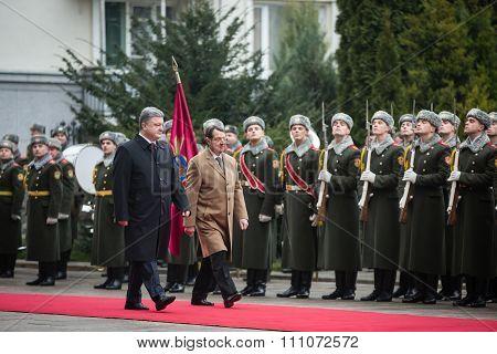 Petro Poroshenko And Nicos Anastasiades