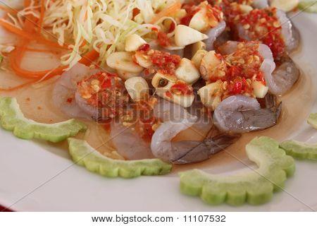 Fresh Shrimp In Fish Sauce As Food Before Main Food. poster