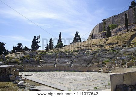 Dionysos ancient theater in Athens Greece