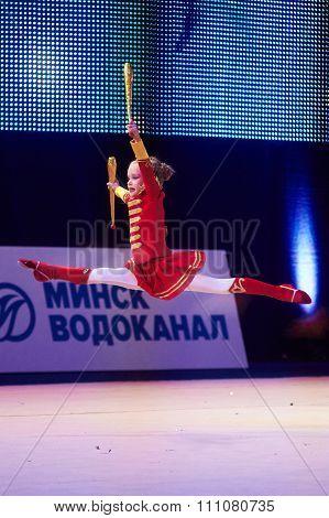 Minsk, Belarus December 05: Leshkevich Karolina From ' Baranovichi' Participate With 'dr