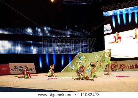 'Baby Cup - BSB Bank' children's competitions in gymnastics , 05 December 2015 in Minsk, Belarus.