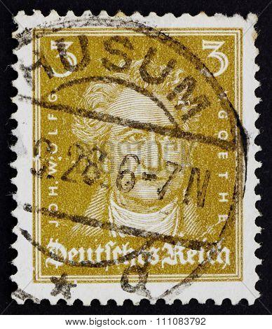 Postage Stamp Germany 1926 Johann Wolfgang Von Goethe