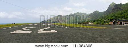 Runway On The Airport Of Fajan D'agua
