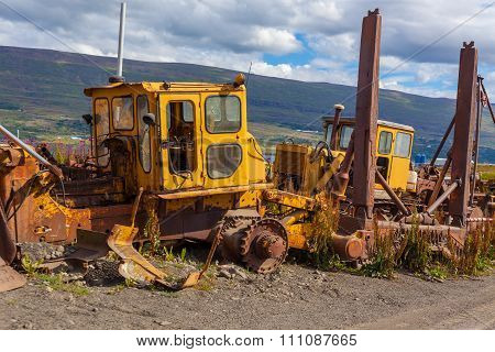 Vintage Old Bulldozers