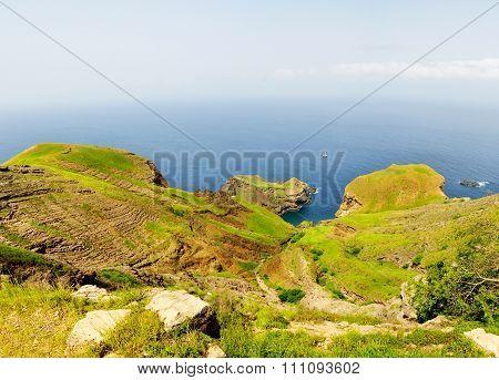 Lagoon Under Cliff