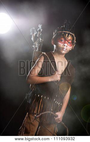 Little Native American Warrior