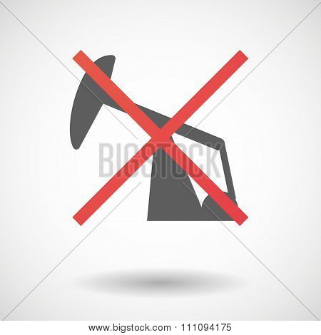 Not Allowed Icon With A Horsehead Pump