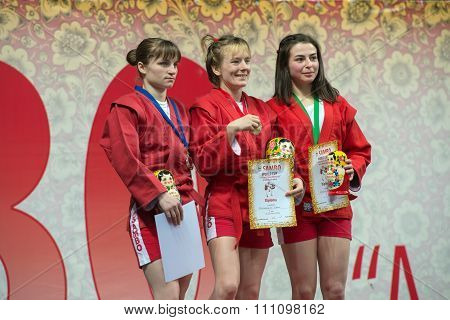 Winners In The Weight Category Of Women 48 Kg Of The World Cup Memorial A