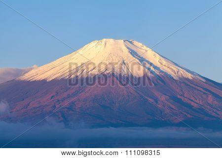 Mount fuji at Lake kawaguchiko,Sunrise, Japan famous view.