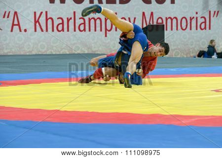 Sukhomlinov Evgeniy (blue) Vs Hasanov Emil On World Cup Memorial A. Kharl