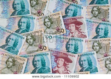 Swedish crowns. Swedish currency