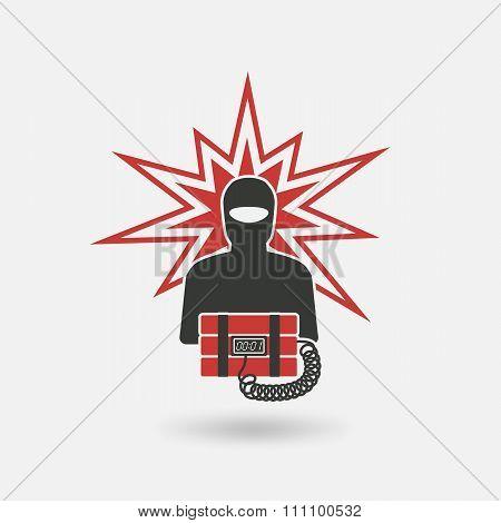 Terrorist With Bomb