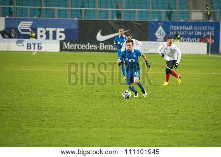Midfielder Mathieu Valbuena (14) On The Football Match On Russian Premier Leagu
