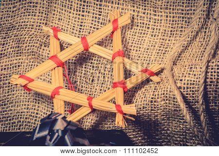 Christmas Star Made Of Straws