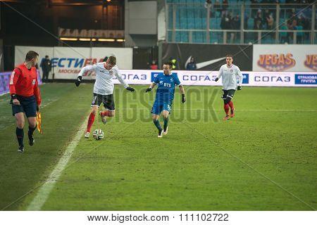 Football Match Russian Premier League Dynamo (Moscow) vs Amkar (Perm)