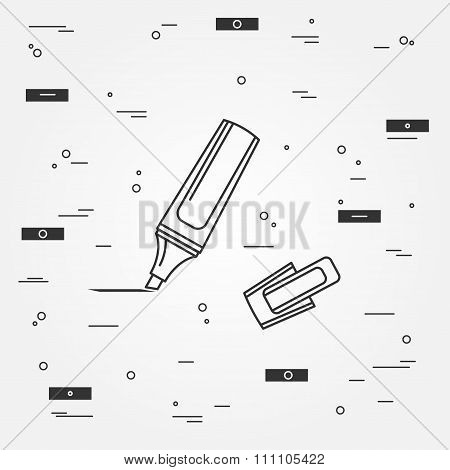 Marker Pen Icon. Marker Pen Icon Vector.marker Pen Icon Drawing. Marker Pen Image.