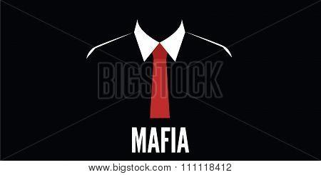 mafia man silhouette crime red tie