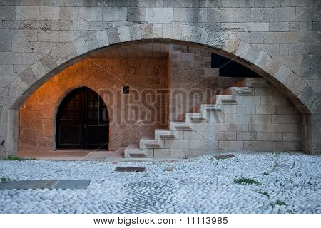 Stone Arch And Stairs