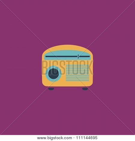 Retro revival radios tuner vector illustration.