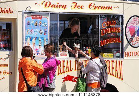 Ice Cream Van, Liverpool.