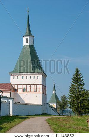 The Valdai Iver Svyatoozersky Virgin Monastery. Nikon (typographic) Tower 2 Pol. Xvii