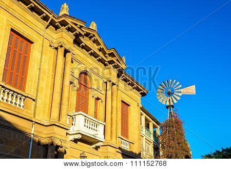 Buildings in the historic centre of Nicosia - Cyprus poster