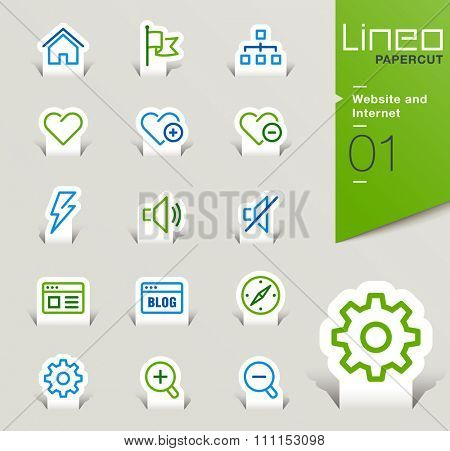 Lineo Papercut - Website and Internet outline icons