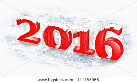 Snowing over the new year 2016