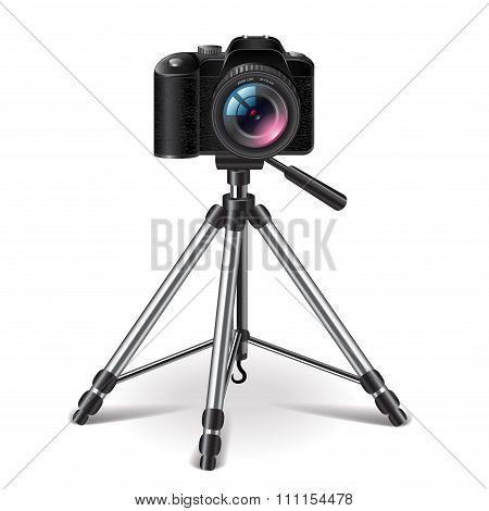Tripod Isolated On White Vector
