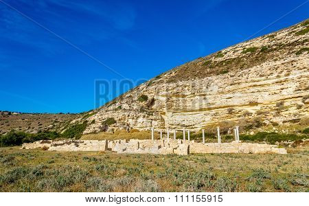 Coastal Basilica of Kourion an ancient city in Cyprus poster