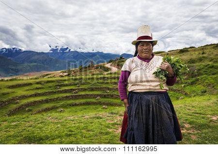 Peruvian woman in Maras, Sacred Valley, Peru