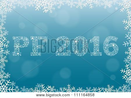 Pf 2016 - Light Blue With Snowflakes
