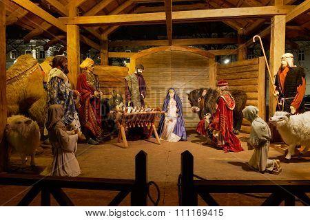 Outdoors Nativity Setting