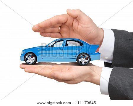 Car in hands