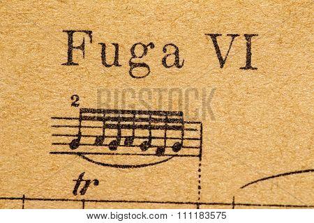 fuga musical notes