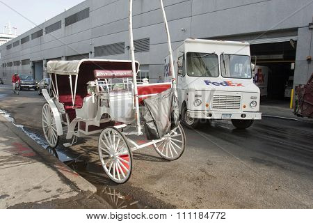 City Carriage Parked In Manhattan
