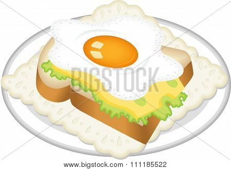 Sandwich from fried egg
