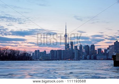 Toronto skyline at sunrise