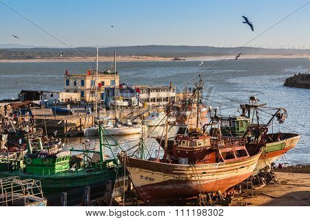 Essaouira, Morocco - 04 November 2015: At The Port