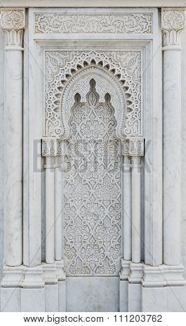 The Marble Carving Of Mausoleum Of Mohammed V In Rabat