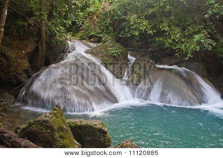 Erawan Waterfall ,kanchanaburi In Thailand