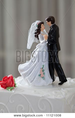 Wedding Cake And Topper