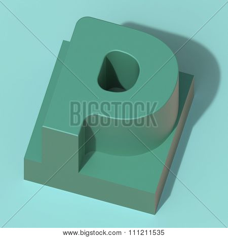 abstract art ABC, 3d letter P