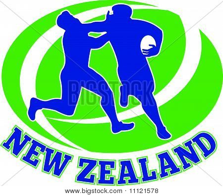 Rugby player fending new zealand