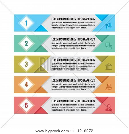 Infographic business concept - colored horizontal vector banners. Infographic template.
