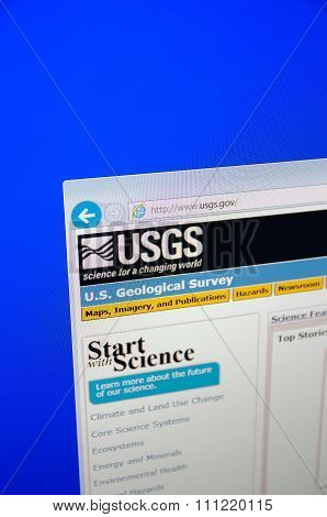 USGS main page