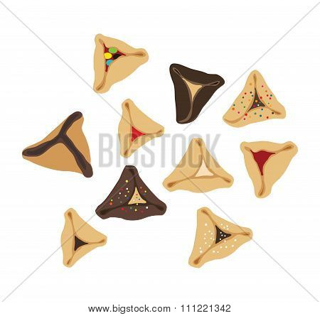 Set of few different tasty Hamantaschen