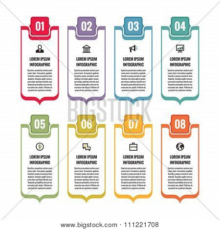 Infographic business concept - vertical vector banners with icons.